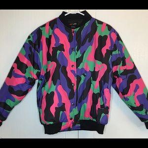 Hot Lava ! amazing and rare puffer/bomber jacket S